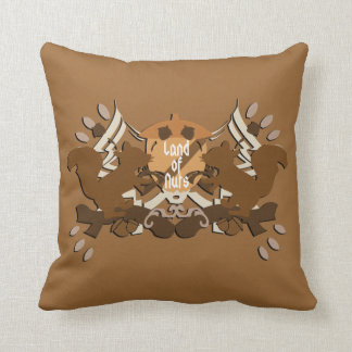 Land of Nuts Family Throw Pillow