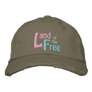 Land of the Free, America is Beautiful Embroidered Hat