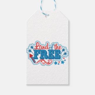 Land of the Free- American gifts, freedom Gift Tags