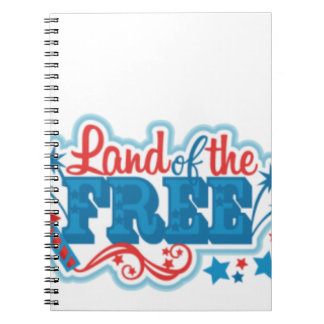 Land of the Free- American gifts, freedom Notebook