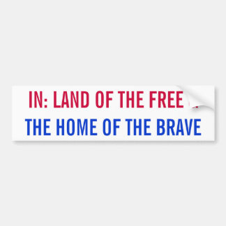 Land of the free and the home of the brave sticker