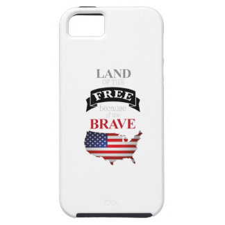 Land of the free because of the brave case for the iPhone 5