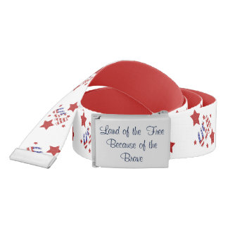 Land of the Free Because of the Brave USA Patrioti Belt