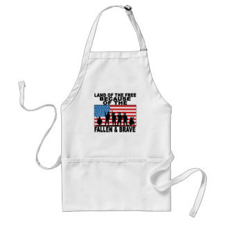 LAND OF THE FREE BECAUSE THE FALLEN AND BRAVE ..pn Standard Apron