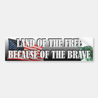 LAND OF THE FREE Bumper Sticker