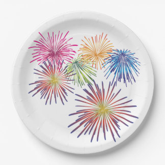 Land Of The Free July 4th Party Paper Plates