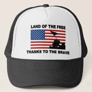 Land Of The Free Thanks To The Brave Hats