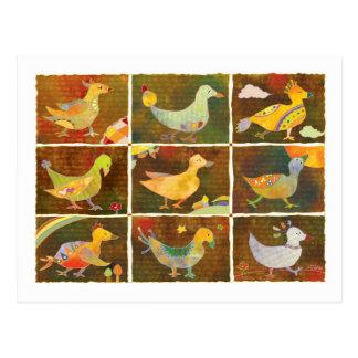 Land of Whimsical Birds Postcard