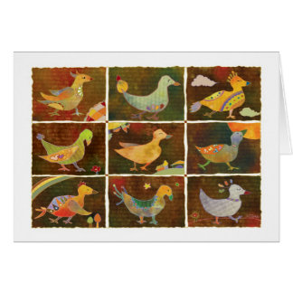 Land of Whimsical Birds Thank You Card