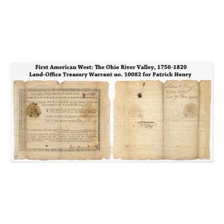 Land-Office Treasury Warrant for Patrick Henry Photograph