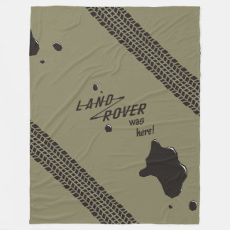 Land-Rover was here! Fleece Blanket