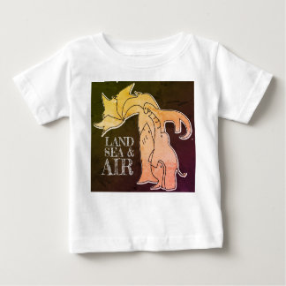 Land Sea & Air - Kid T-Shirt - Rustic Neon