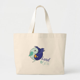 Land & Sea Large Tote Bag