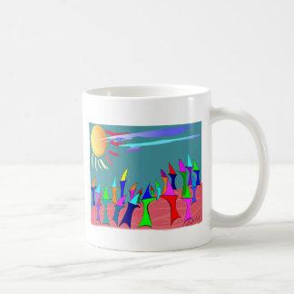 Land Sharks Family Reunion~~Whimsical Art Classic White Coffee Mug