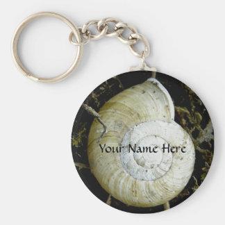Land Snail Shell, Dutch Harbor, Alaska Basic Round Button Keychain