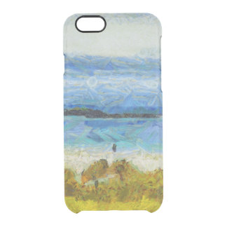 Land strip in water clear iPhone 6/6S case