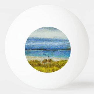 Land strip in water ping pong ball