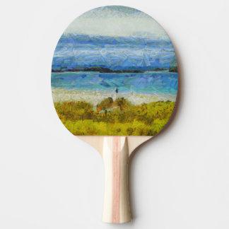 Land strip in water Ping-Pong paddle