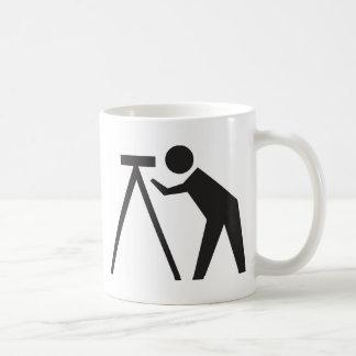 Land Surveyor at Work Basic White Mug