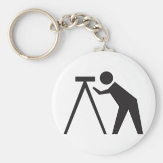 Land Surveyor at Work Keychain
