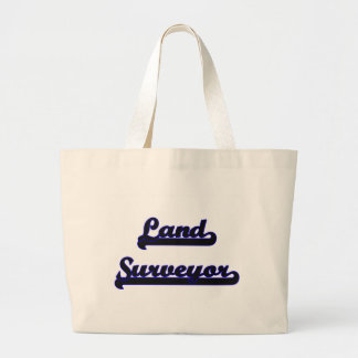 Land Surveyor Classic Job Design Large Tote Bag