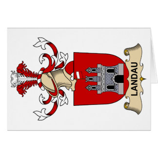 Landau Family Crest Card