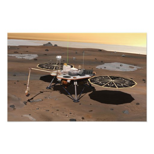 Lander de Phoenix Mars Photographies