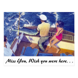 Landing a Sailfish Postcard