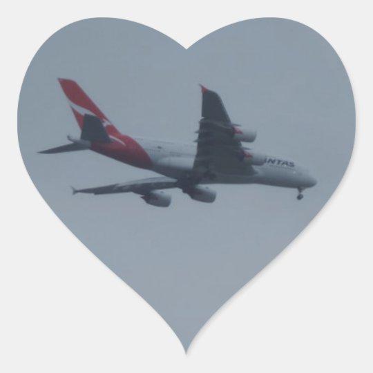 Landing Aircraft Heart Sticker