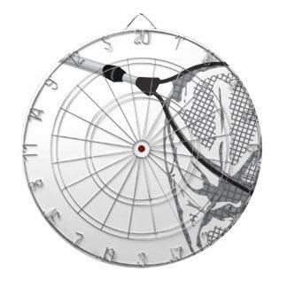 Landing fishing net vector illustration clip-art dartboard