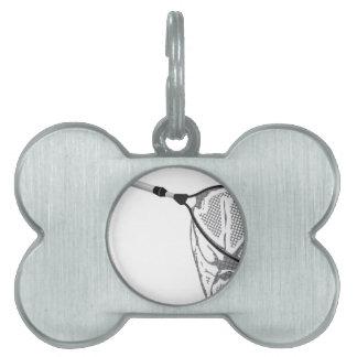 Landing fishing net vector illustration clip-art pet ID tag