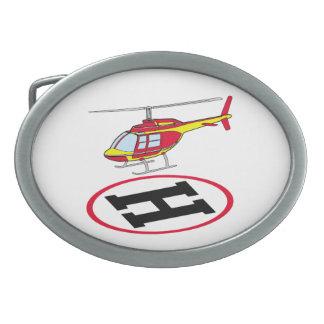 Landing helicopter belt buckles