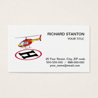 Landing helicopter business card