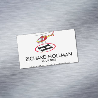 Landing helicopter Magnetic business card