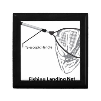 Landing net for fishing illustration marked gift box