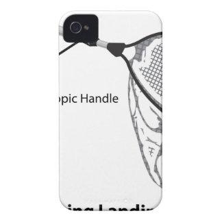 Landing net for fishing illustration marked iPhone 4 case