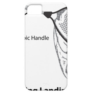 Landing net for fishing illustration marked iPhone 5 cover