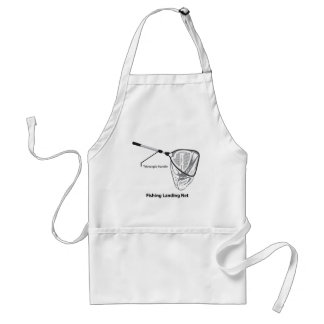 Landing net for fishing illustration marked standard apron