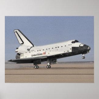 Landing of Space Shuttle Atlantis (STS-27) Poster