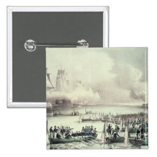 Landing of the American Force at Vera Cruz 2 Inch Square Button