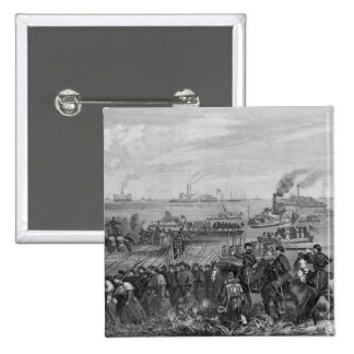 Landing of troops on Roanoke Island 2 Inch Square Button