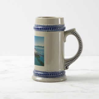 Landing stag and speed boat beer stein