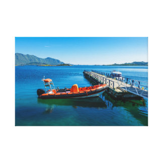 Landing stag and speed boat canvas print