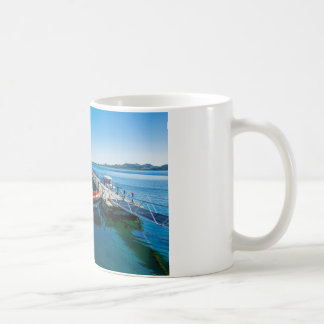 Landing stag and speed boat coffee mug