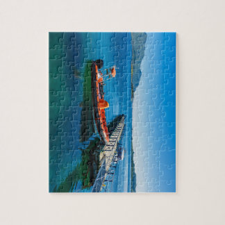 Landing stag and speed boat jigsaw puzzle