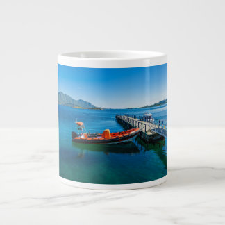 Landing stag and speed boat large coffee mug
