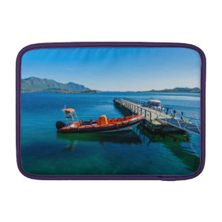 Landing stag and speed boat MacBook sleeve