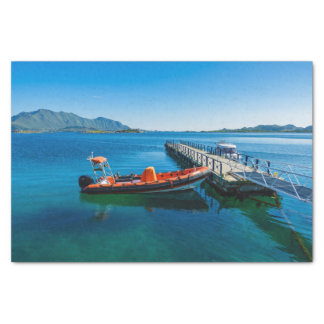 Landing stag and speed boat tissue paper