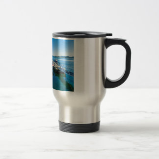 Landing stag and speed boat travel mug