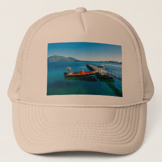 Landing stag and speed boat trucker hat